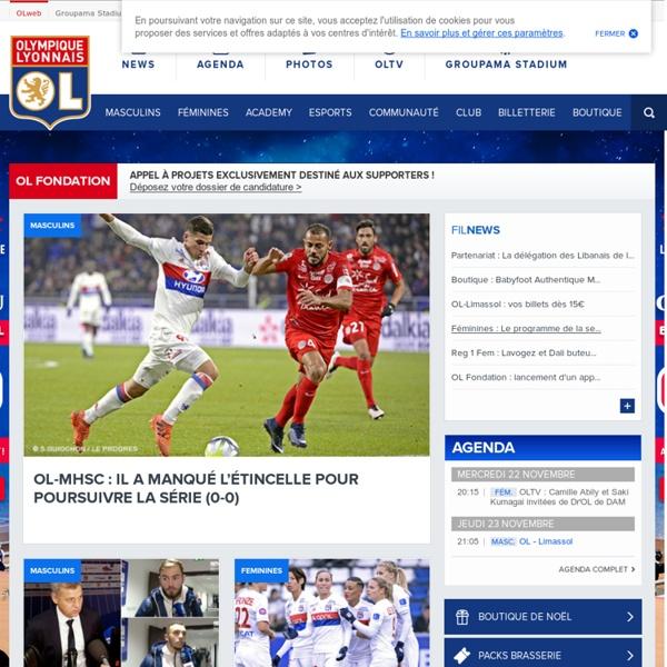 Site officiel de l'Olympique Lyonnais
