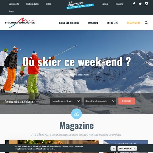 PAGE WEB ; site Officiel des Stations de Ski en France
