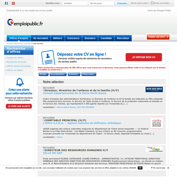 Offre emploi biblioth ques centres documentaires page 1 - Grille adjoint administratif territorial ...
