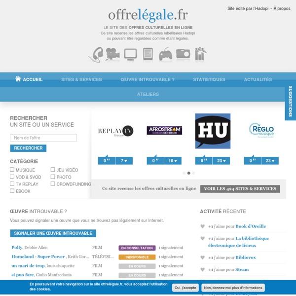 Le site des offres culturelles en ligne
