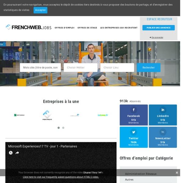 Emploi.FrenchWeb.fr - Les offres d'emploi d'Internet, de la communication et des medias