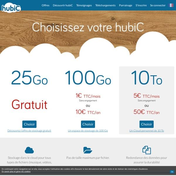 Les offres de stockage cloud hubiC