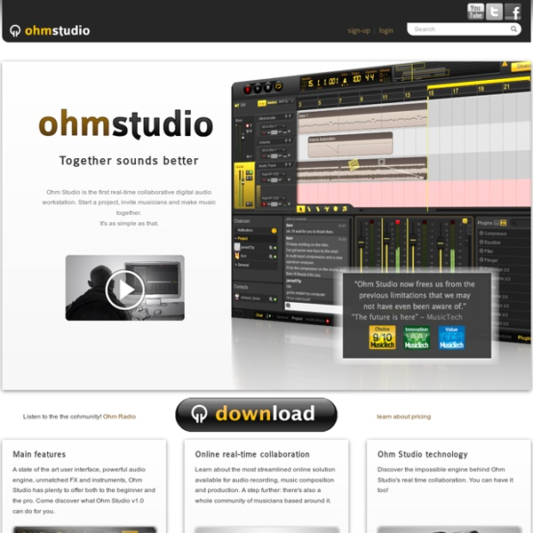 Ohm Studio, the collaborative digital audio workstation
