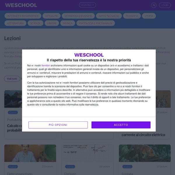 Oilproject: letteratura e matematica online, lezioni gratuite, video, esercizi, analisi e riassunti