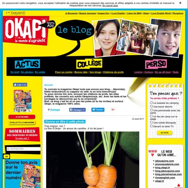 Okapi 100% ADO – Le blog