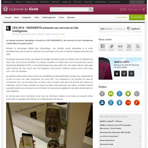 CES 2014 : OKIDOKEYS présente ses serrures et clés intelligentes