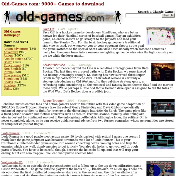 Old-Games.com: 9000+ Games to download