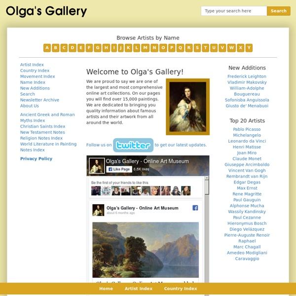 Olga's Gallery - Online Art Museum.