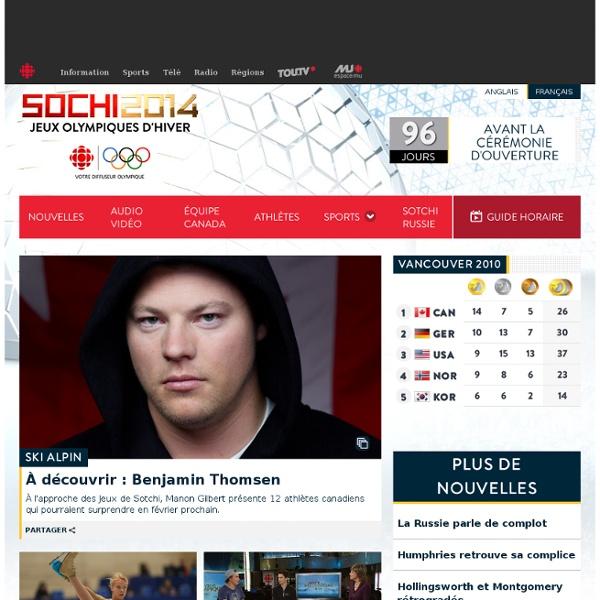 Jeux olympiques d'hiver de Sotchi 2014 – Radio-Canada Sports