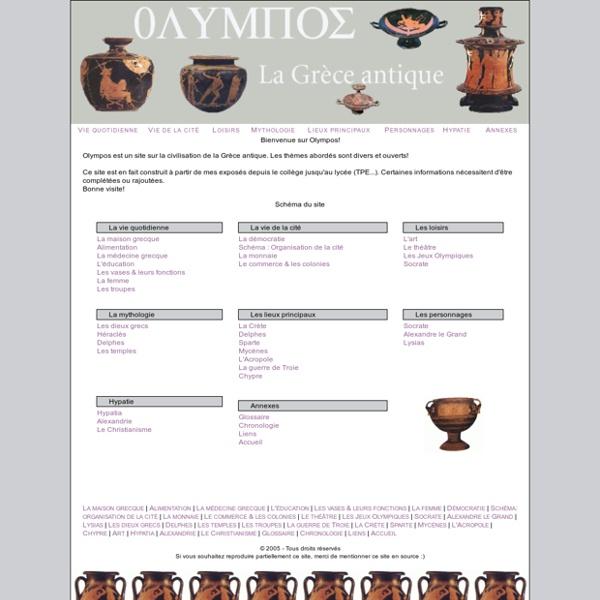 OLYMPOS, la Grèce antique