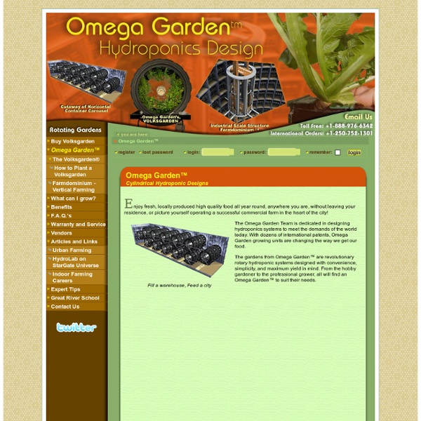 OmegaGarden.com - Omega Gardens™: Industry Leading Hydroponics Designs for Indoor Gardening