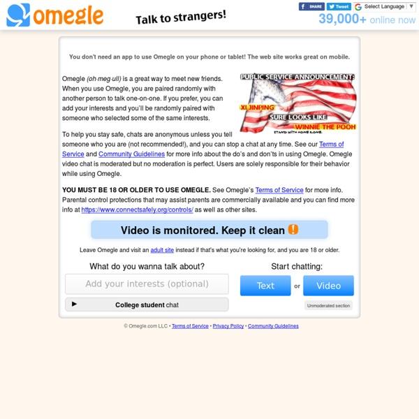 Omegle: Talk to strangers!