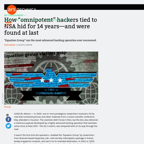 "17/02 - ""omnipotent"" hackers tied to NSA hid for 14 years—and were found at last"