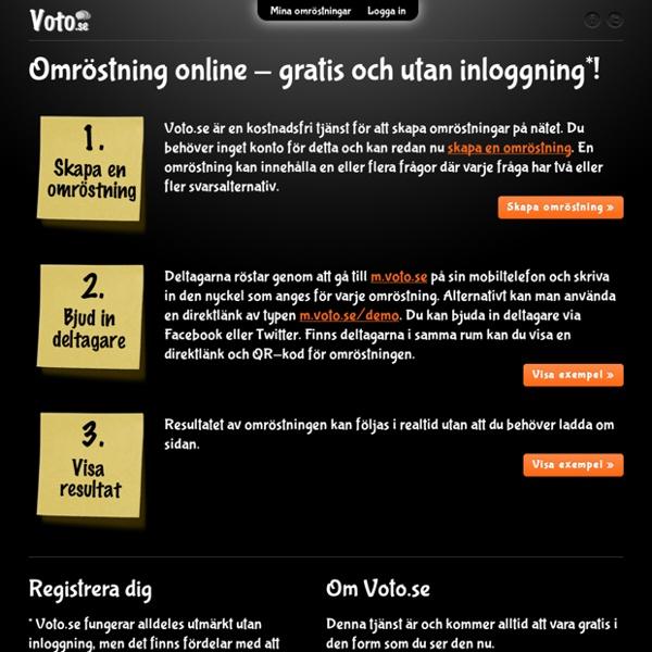 Omröstning online