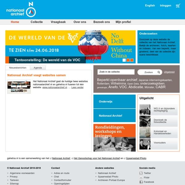 GahetNA is een samenwerking van Het Genootschap voor het Nationaal Archief, het Nationaal Archief en Spaarnestad Photo