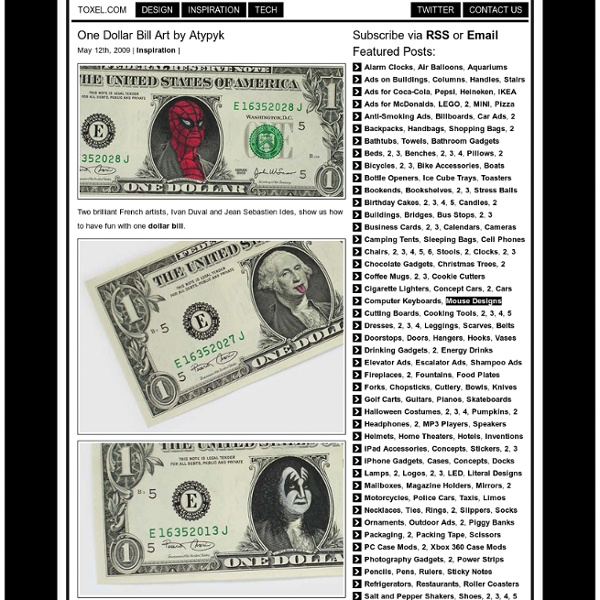 One Dollar Bill Art by Atypyk