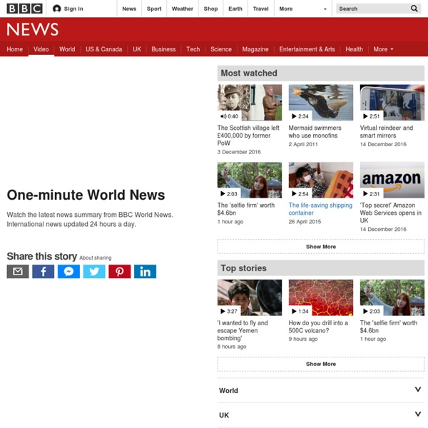 One-minute World News