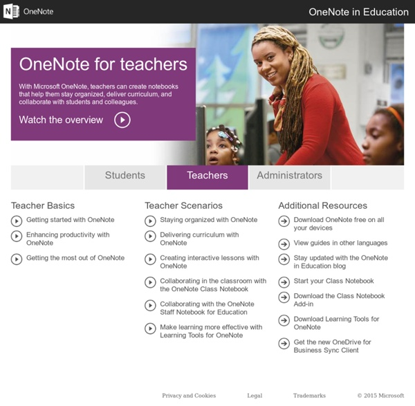 OneNote for Teachers - Interactive Guides