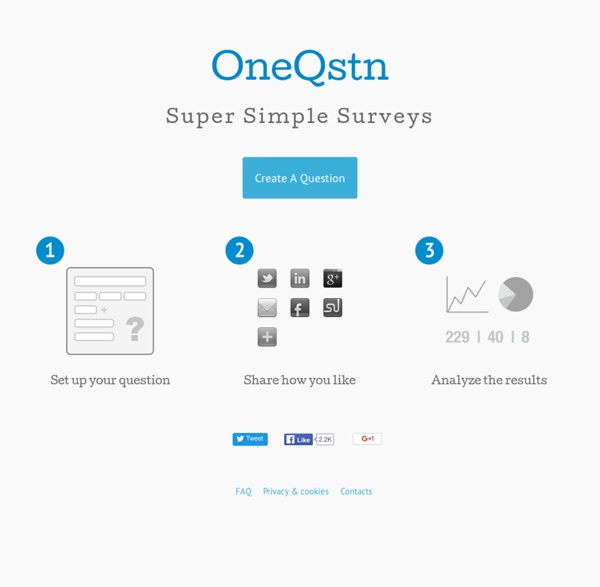 OneQstn: Super Simple Surveys - Home