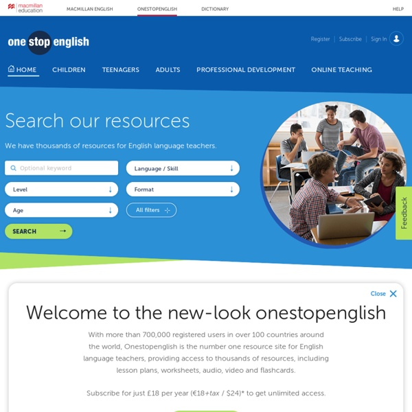 Onestopenglish: Number one for English language teachers