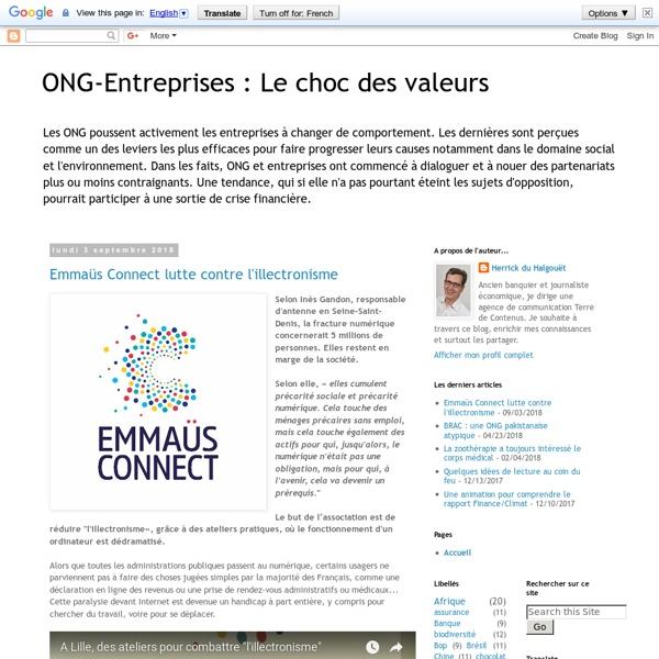 ONG-Entreprises : Le choc des valeurs