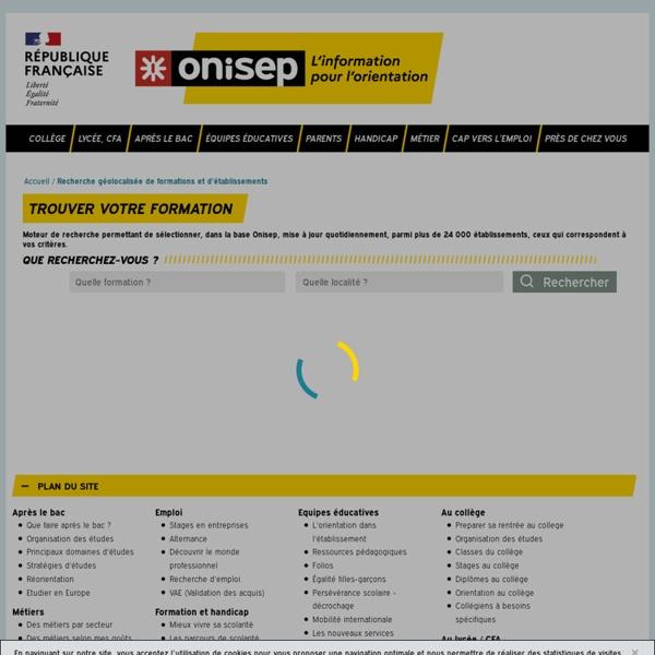 Onisep.fr : où se former ? où s'informer ?
