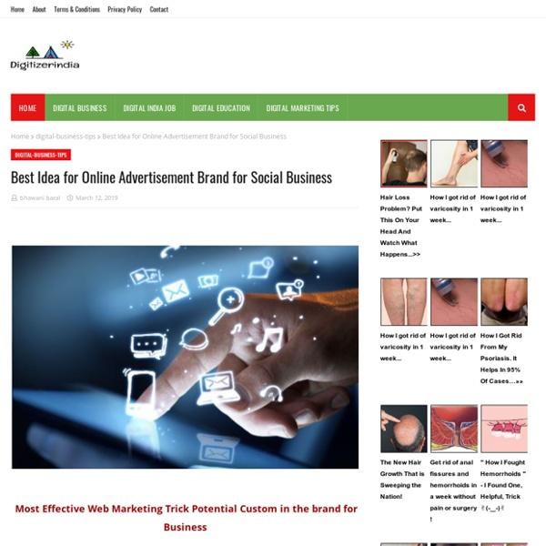 Best Idea for Online Advertisement Brand for Social Business