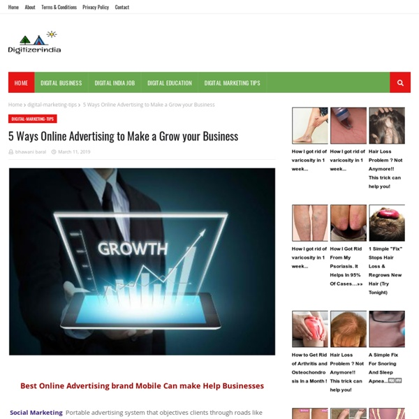 5 Ways Online Advertising to Make a Grow your Business