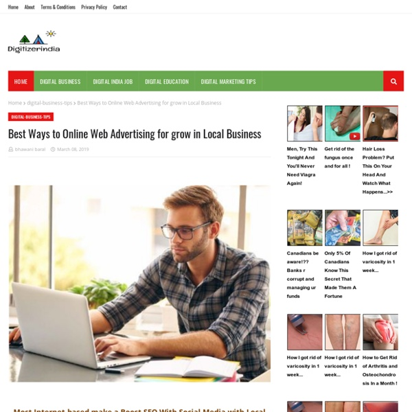 Best Ways to Online Web Advertising for grow in Local Business