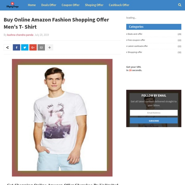 Buy Online Amazon Fashion Shopping Offer Men's T- Shirt
