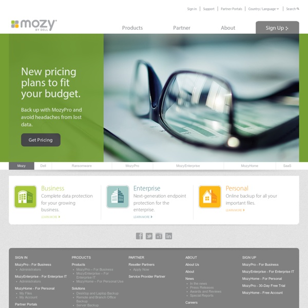 Backup at Mozy.com : Simple, Automatic, Secure