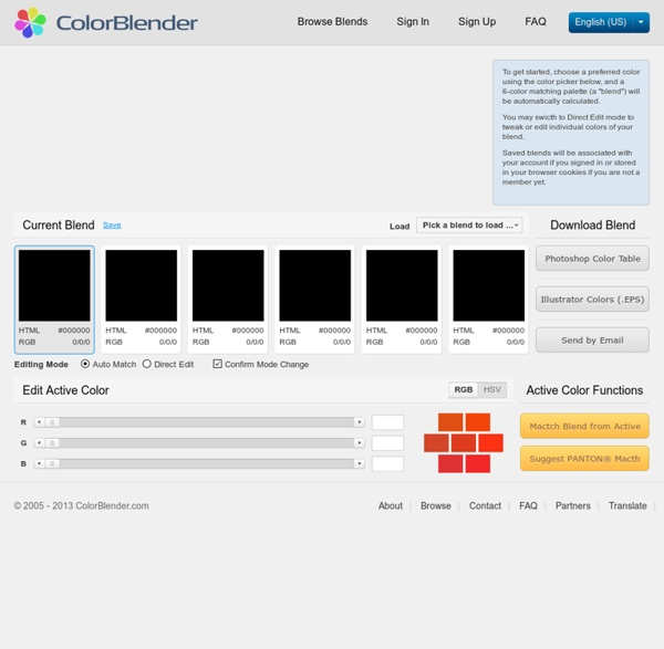 Your free online color matching toolbox