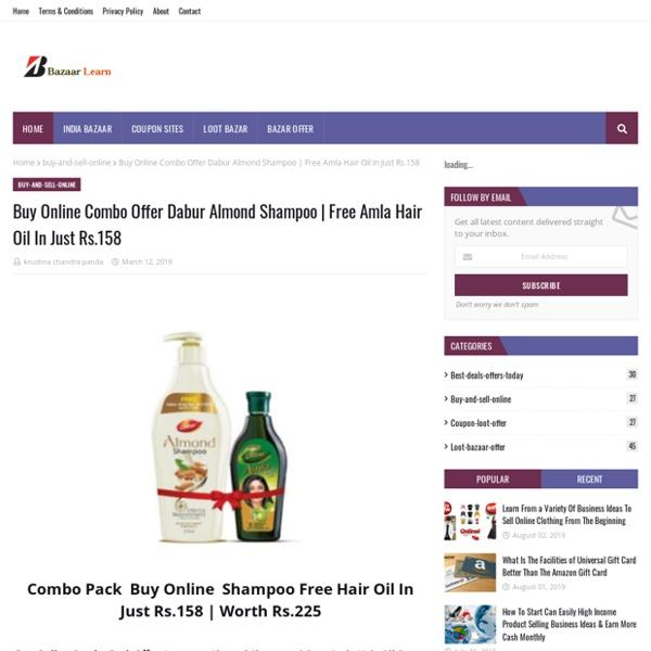 Buy Online Combo Offer Dabur Almond Shampoo