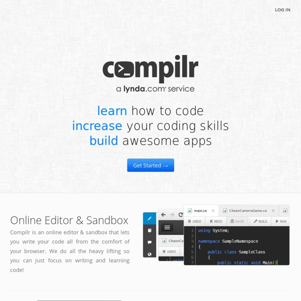 Online Compiler, Editor & IDE for C, C++, C#, Java, Javascript, PHP, Ruby, VB