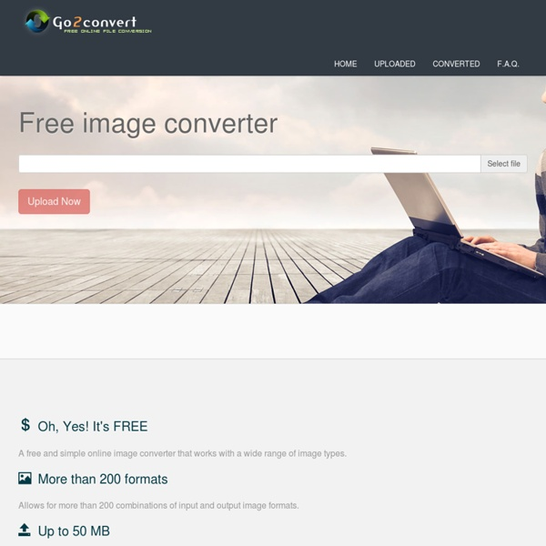 Online convert TIFF, JPG, EPS, PCX, PDF, PNG, PSD, SVG, TGA etc