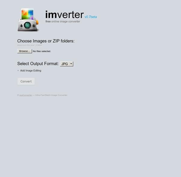 Free Online Image Converter - IMVERTER v0.7