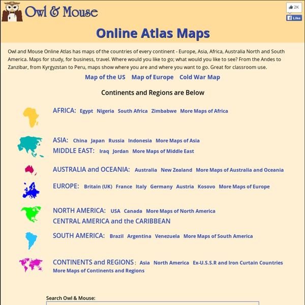 Online Atlas - maps of all the countries of every continent and region