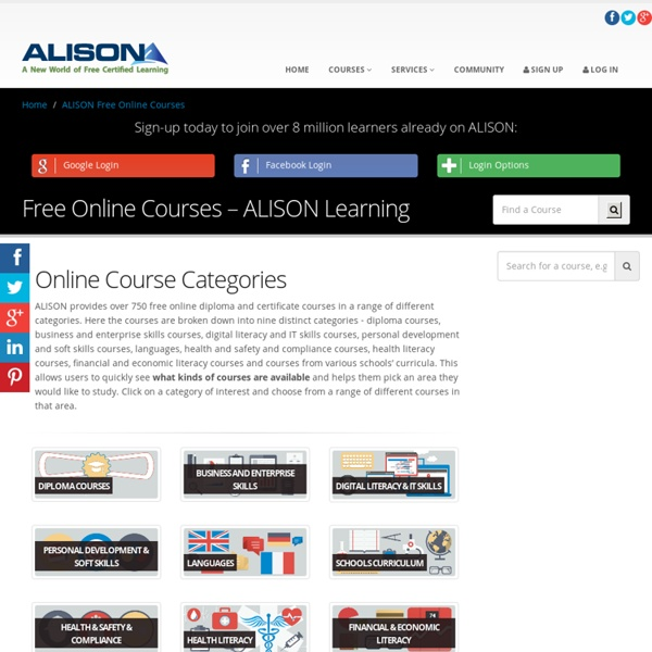 Free Online Courses - Learn With ALISON