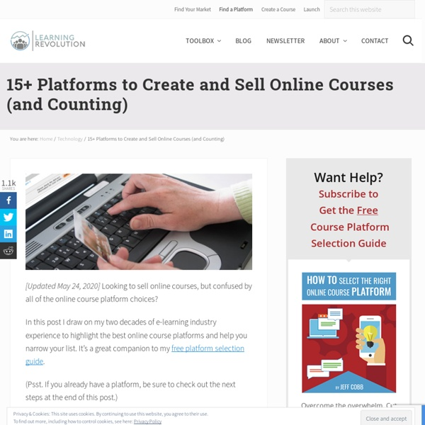 15 Platforms to Publish and Sell Online Courses
