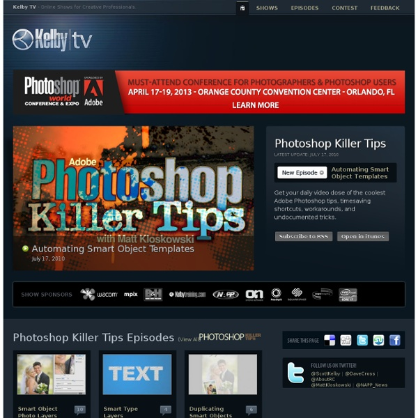 Photoshop Killer Tips