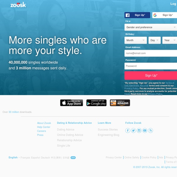 Zoosk Online Dating Site - Dating Apps
