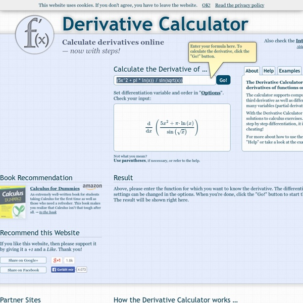 Online Derivative Calculator