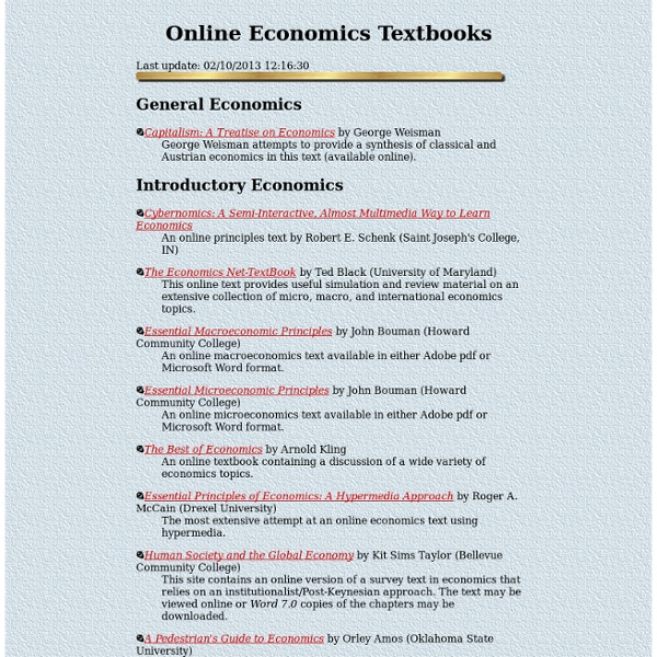 Online economics textbooks
