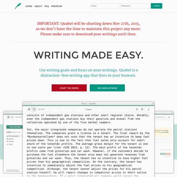 Online Text Editor - Writing made easy - Quabel