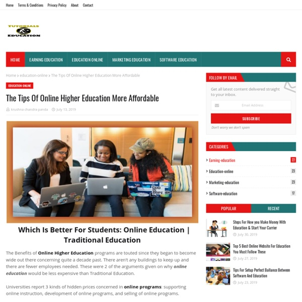The Tips Of Online Higher Education More Affordable