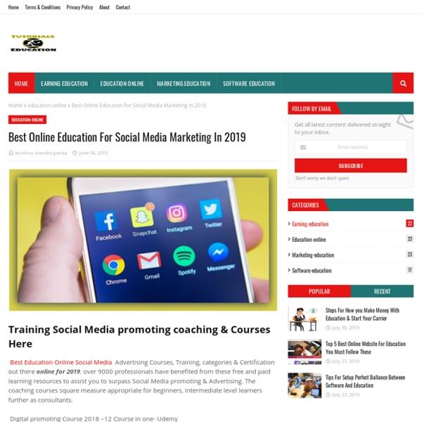 Best Online Education For Social Media Marketing In 2019