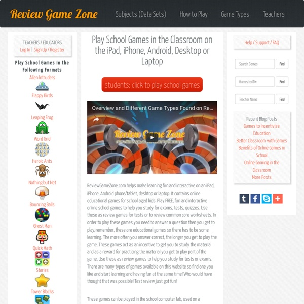 Fun and Free Educational Review Games by Review Game Zone