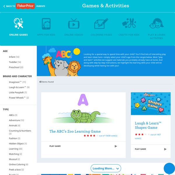 Online Learning Games from Fisher-Price – For Infants, Toddlers & Preschoolers