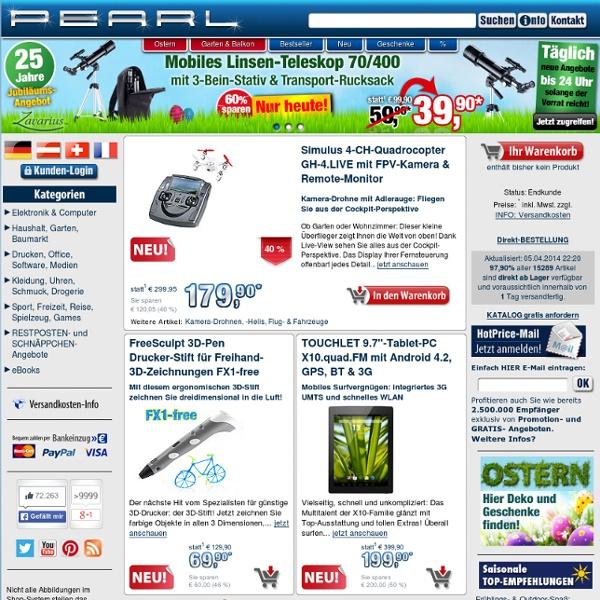 pearl online shop für elektronik