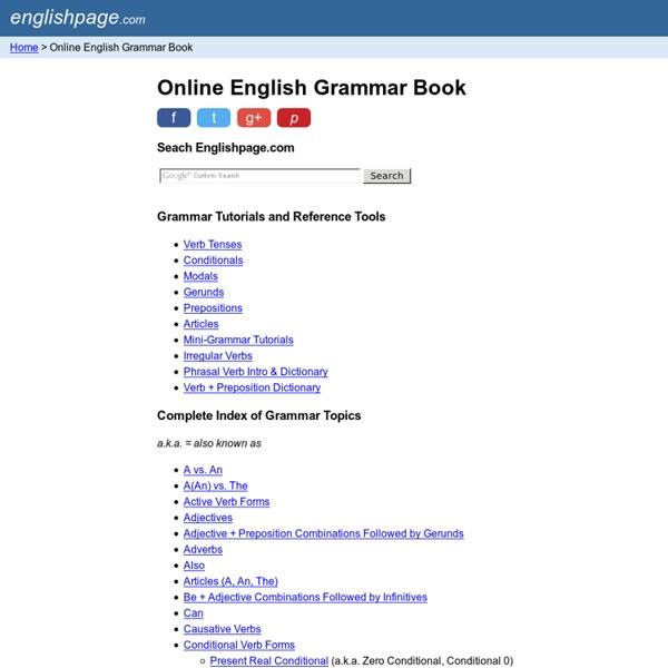 Online English Grammar Book